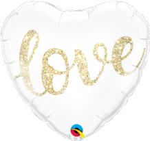 "Love Glitter Gold Foil Balloon (18"") 1pc"